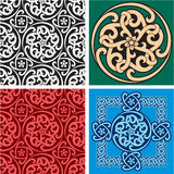 Set of Seamless Patterns and Design Element Stock Photography