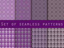 Set of seamless patterns with drops and flowers. Vector. The pattern for wallpaper, tiles, fabrics and designs. Stock Images
