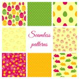 Set of seamless patterns for Easter design Royalty Free Stock Image