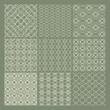 Set of 9 seamless patterns. Seamless patterns in an elegant style Royalty Free Stock Photo