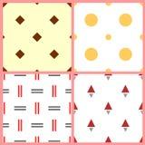 Set of seamless  patterns. EPS 10 Stock Photo