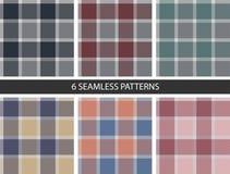 6 Set of seamless patterns fabric Stock Photography