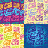 Set of seamless patterns with fish. Vector Royalty Free Stock Images