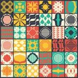 Set of 36 seamless patterns. Seamless patterns in flat design style Stock Photo
