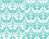 Set of seamless patterns - floral ornamental background Royalty Free Stock Images