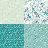 Set of seamless patterns Stock Photography