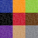 Set of seamless patterns with a flourish Royalty Free Stock Photos