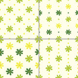 Set of seamless patterns with flowers,  illustration Stock Image