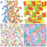 Set seamless Patterns Stock Images