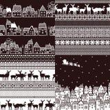 Set of seamless patterns Stock Photo