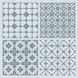 Set of seamless patterns. Set of four seamless vector patterns in oriental style Stock Photography