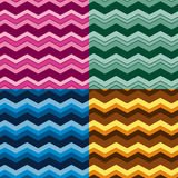Set of seamless chevrons patterns Royalty Free Stock Image
