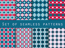 Set of seamless patterns. Geometric patterns. The pattern for wa Stock Photo