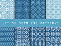 Set of seamless patterns. Geometric patterns. Royalty Free Stock Image