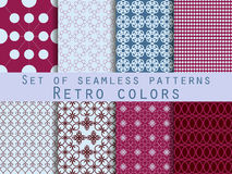 Set of seamless patterns. Geometric seamless pattern. The designs for textiles and interior. Stock Image