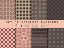Set of seamless patterns. Geometric seamless pattern. Retro colo. Set of seamless patterns. Geometric seamless pattern. Abstract backgrounds. Vector Royalty Free Stock Image