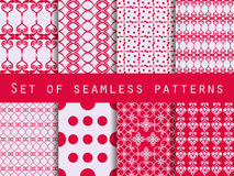 Set of seamless patterns. Geometric seamless pattern. Retro colo. Rs Stock Photography