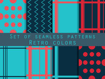 Set of seamless patterns. Geometric seamless pattern. Retro colo. Rs. Vector Stock Photos