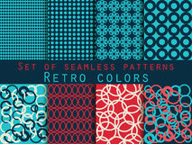 Set of seamless patterns. Geometric seamless pattern. Retro colo. Rs. Vector Stock Photo
