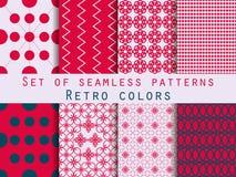Set of seamless patterns. Geometric seamless pattern. Retro colo Royalty Free Stock Image