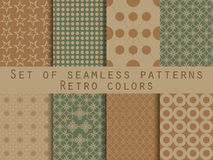 Set of seamless patterns. Geometric seamless pattern. Retro colo. Rs. Vector Royalty Free Stock Photography
