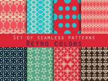 Set of seamless patterns. Geometric seamless pattern. Retro colo. Rs. Vector Stock Images