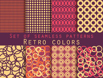 Set of seamless patterns. Geometric seamless pattern. Retro colo. Rs. Vector Stock Photography