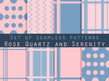 Set of seamless patterns. Geometric seamless pattern. Rose quart Royalty Free Stock Images