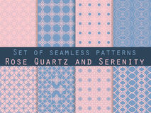 Set of seamless patterns. Geometric seamless pattern. Rose quart Stock Image