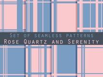 Set of seamless patterns. Geometric seamless pattern. Rose quart Royalty Free Stock Photo