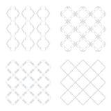 Set seamless patterns gray Stock Photo