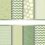 Set of seamless patterns vector illustration