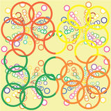Set of seamless patterns with handdrawn Gold chains on white. Royalty Free Stock Photography
