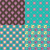 Set of 4 seamless patterns Royalty Free Stock Images