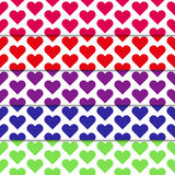Set of seamless patterns with hearts. Fully vector Set of seamless patterns with hearts Royalty Free Stock Images