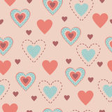 Set of seamless patterns hearts Royalty Free Stock Photos