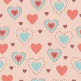Set of seamless patterns hearts. Set heart shape seamless pattern - Vector Illustration Royalty Free Stock Photos