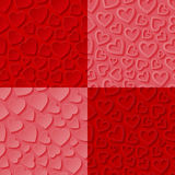 Set of seamless patterns with hearts Royalty Free Stock Photo