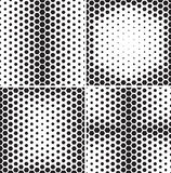 Set of seamless patterns with hexagons gradients. Royalty Free Stock Photo