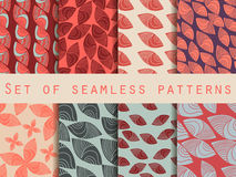 Set of seamless patterns in the Indian style. Tribal ethnic motifs. Royalty Free Stock Images