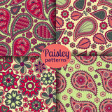Set of seamless patterns in Indian style Royalty Free Stock Photos