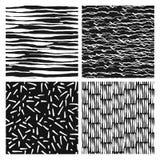 Set of seamless patterns. Ink. Grunge vector texture. Hand drawn. Vector illustration stock illustration