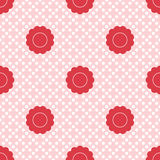 Set of seamless patterns for kid girls Stock Images