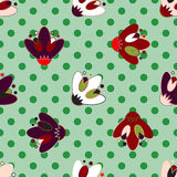 Set of seamless patterns for kid girls Stock Photos