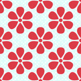 Set of seamless patterns for kid girls Stock Image
