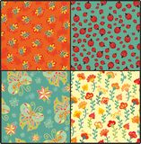 Set of decorative summer patterns Royalty Free Stock Image
