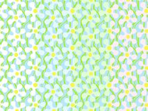 Set of seamless patterns with light abstract flowers on light blue background. Can be printed and used as wrapping paper, wallpape. R, textile, fabric, etc royalty free illustration