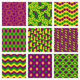 Set of seamless patterns for Mardi Gras Stock Images