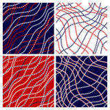 Set of seamless  patterns in marine style. Royalty Free Stock Photo