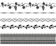 Set of seamless patterns. Mehndi stock illustration